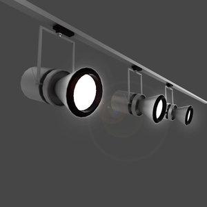 3dsmax iguzzini le perroquet light fixture