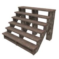 wood stairs woo obj