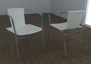 3d armchair havana chair model