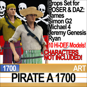 props set daz pirate 3ds