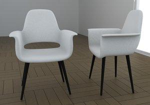 3d model chair armchair type