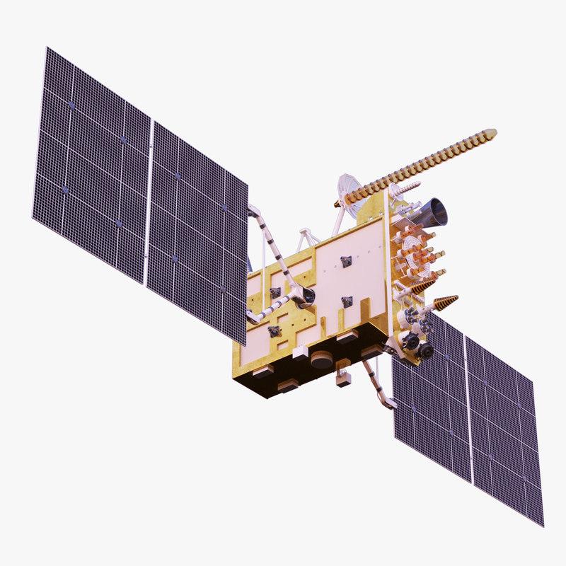 3d satellite glonass-k model
