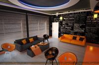 3d chair room office model