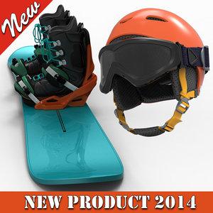 3d snow board helmet glass