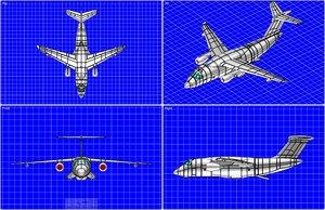 3dsmax embraer kc-90 transport aircraft
