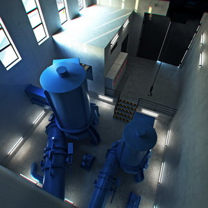 modelled hydroelectric turbines max