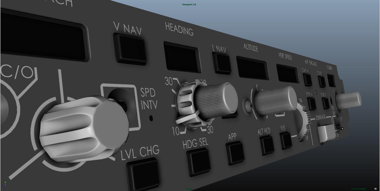 Aircraft (Autopilot) MCP Panel