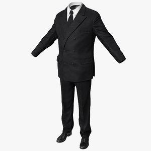 men suit 5 3d model