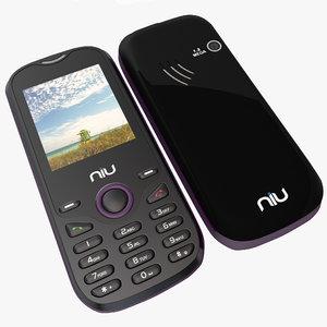 niu lotto n104 purple 3d model