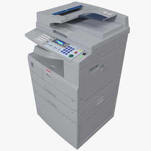 3d photocopier ricoh aficio mp model