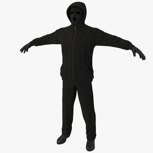 3d model robber clothes