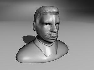 3d statue joseph stalin model