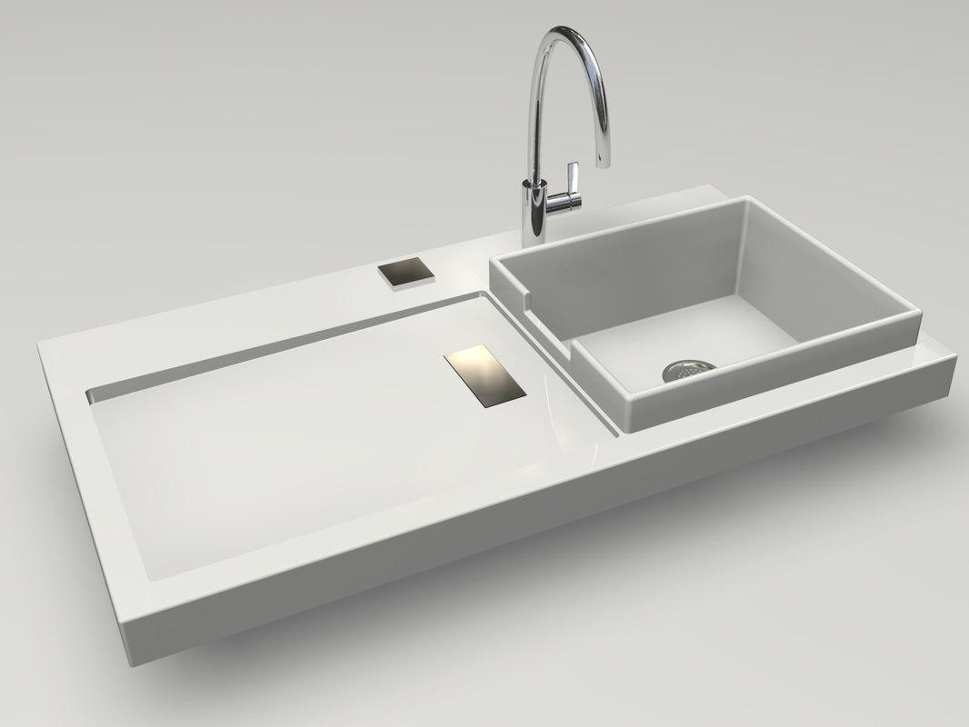 3d starck designer kitchen sink