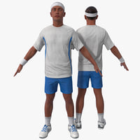 Tennis Player Rigged 3