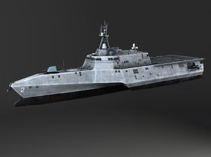 uss independence battle battleship 3d model