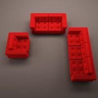 3d sofa kit model