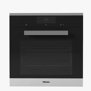 3d model miele 6860 oven