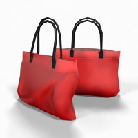 Hand Bag Low Poly 04