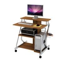 3d model computer desk castors