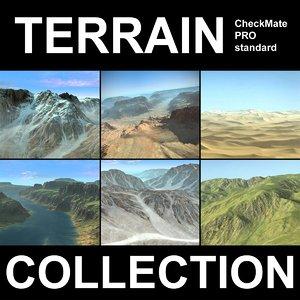 landscape mountain terrain 4 3d max