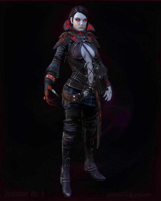 3d model fantasy female