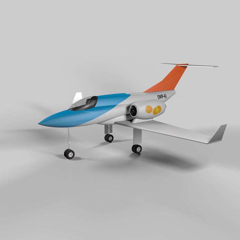 3d cute jet