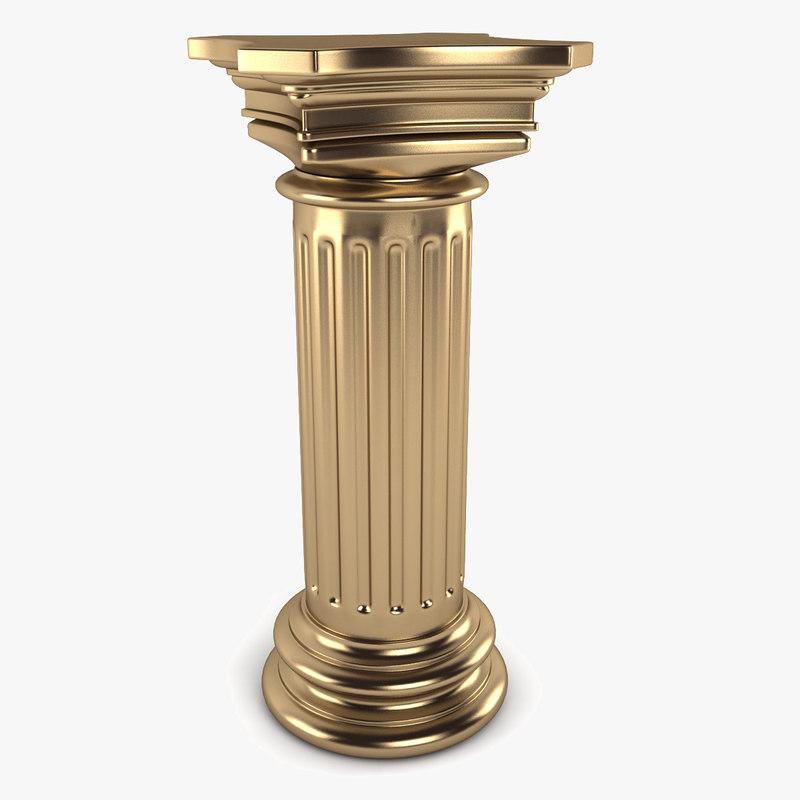 3d model garden column