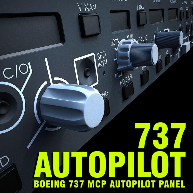 obj boeing 737 autopilot mcp