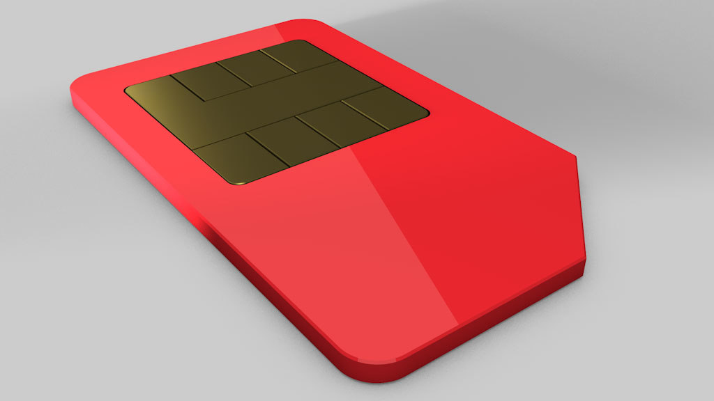 clean simcard 3d model