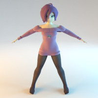 3d zone tan character rigged model