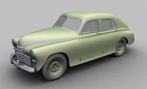 3d model car 1946
