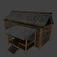 3d model house hut