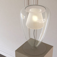 cuore aperto table lamp 3d max
