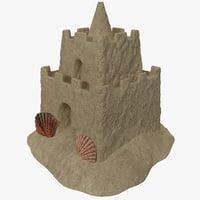 sand castle 3d c4d
