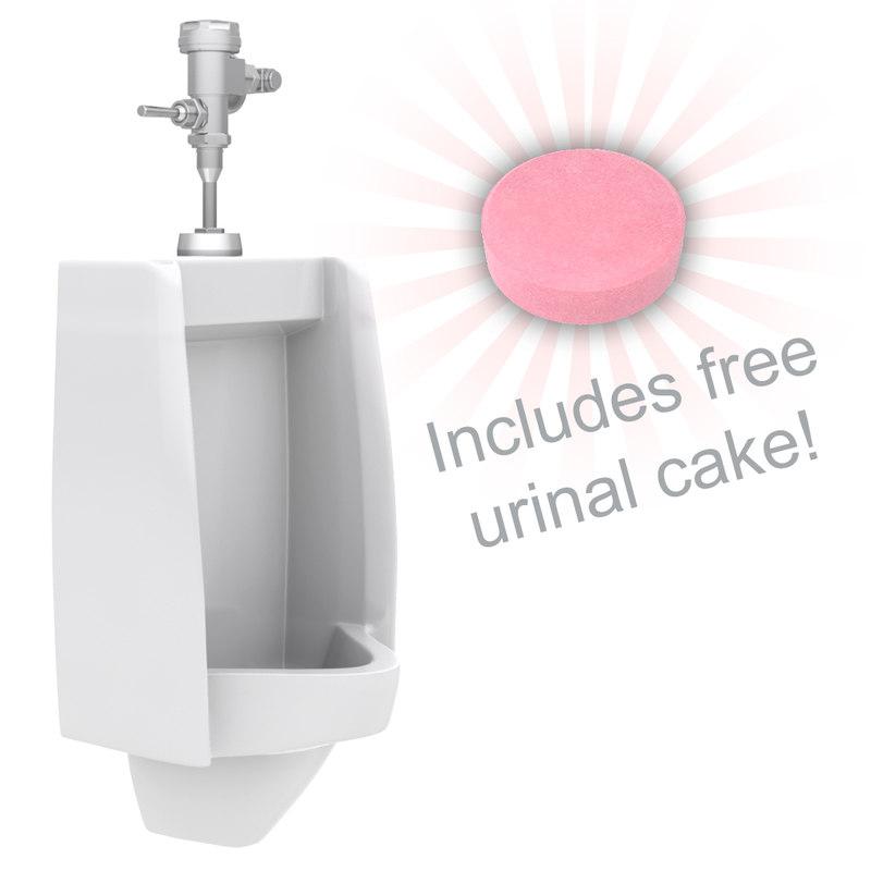 urinal flusher cake 3d model