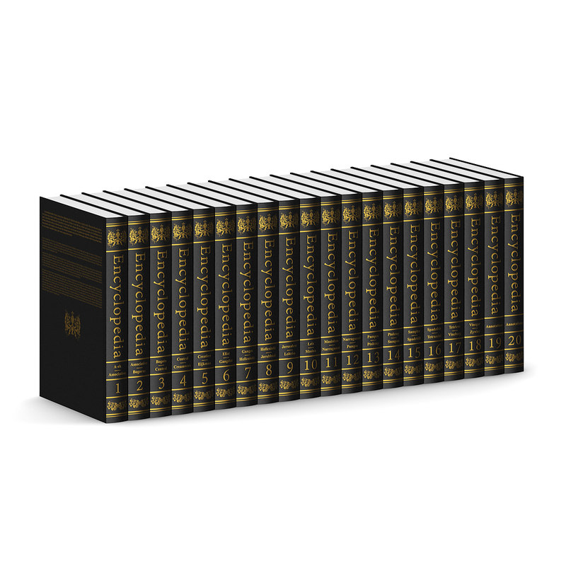 encyclopedia set covered 3d model
