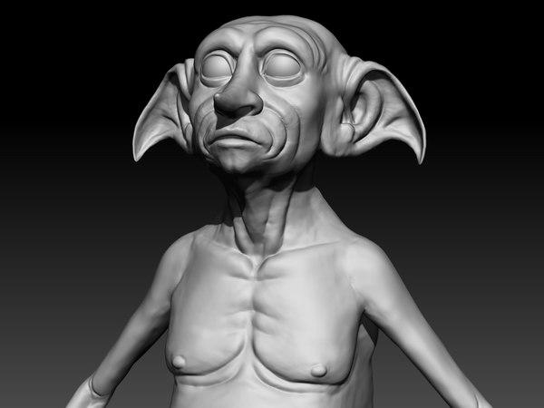 3d model dobby harry potter