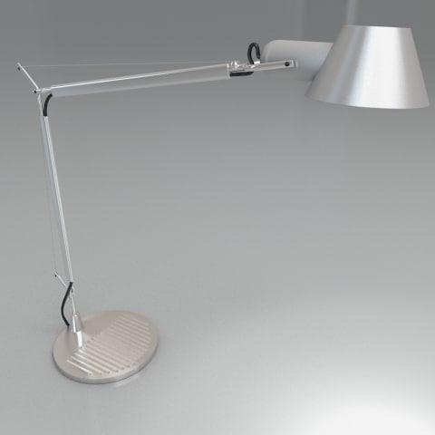 retro tolomeo desk lamp 3d model