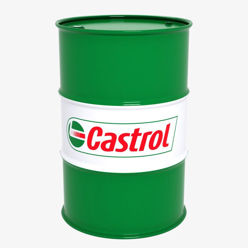 barrel castrol 3d max