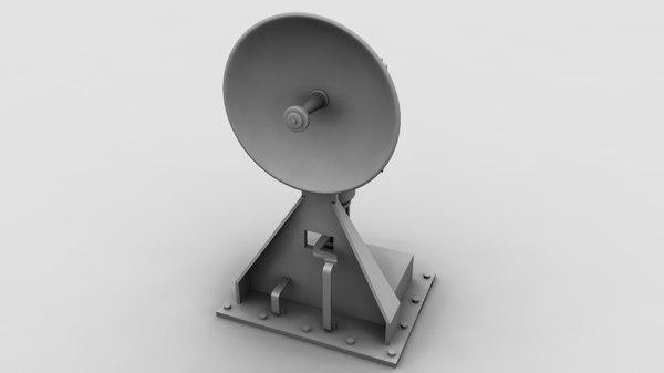 3d model satellite antenna