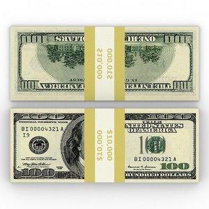 free max model pile banknotes