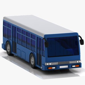 3d cartoon bus car