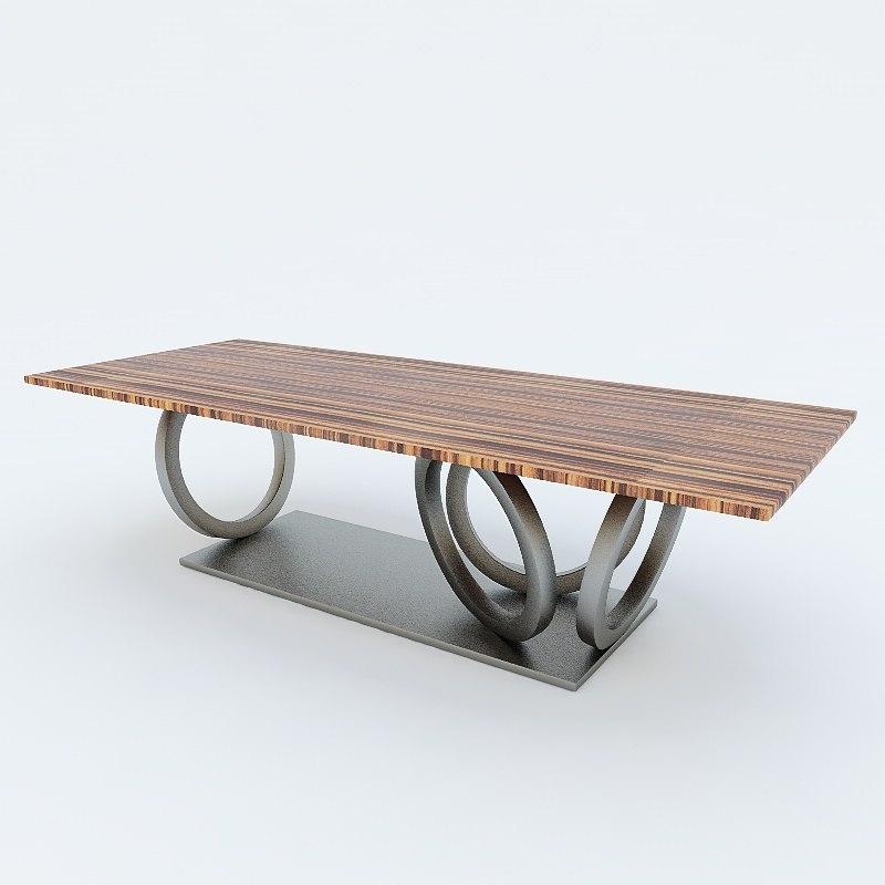 3d casa table model