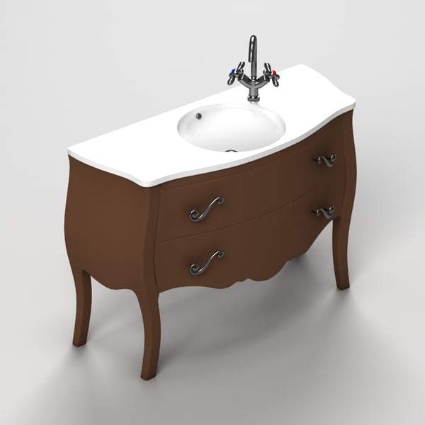 sink drawers 3d obj