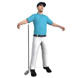 3d model golf golfer