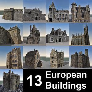 max 13 european buildings