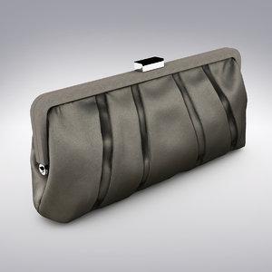 3d max luxury classic clutch bag