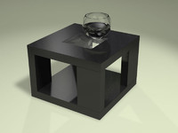 Atlantic side table and realistic fish bowl