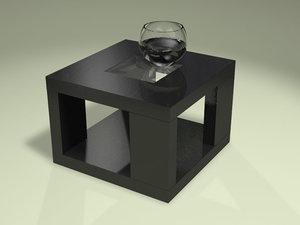 3d black atlantic table realistic model