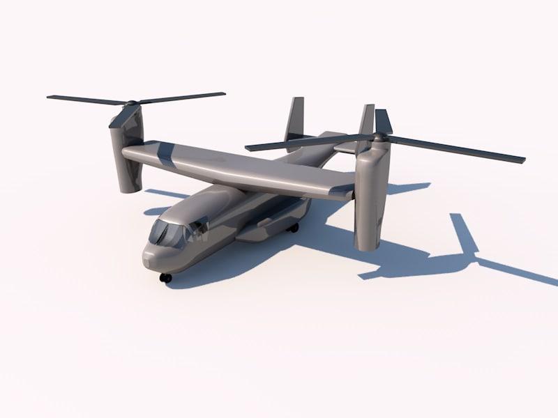 3d model bell boeing v-22 osprey